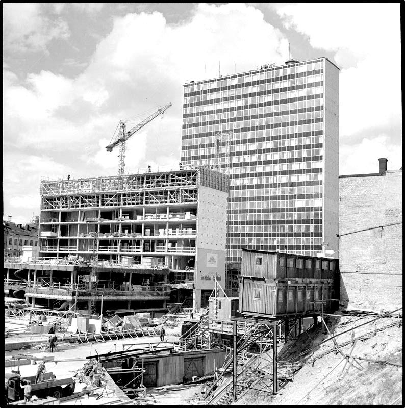 Nya City vid Hötorget. Foto: Lennart af Petersens 1959. Bilden hämtad från Stockholmskällan